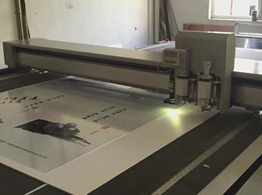 广告PVC板CCD定位切割演示